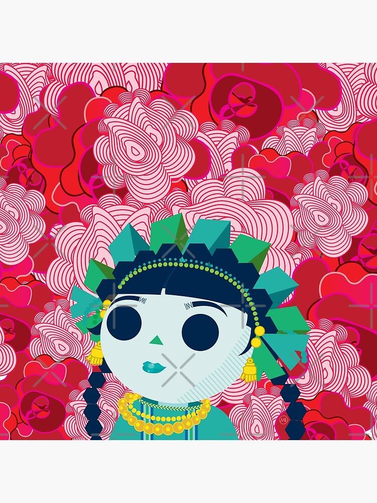 La Muñeca en flores by MiguelLopezArt