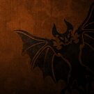 Basilica Corps Bat - Black on Orange by eps-aneedles