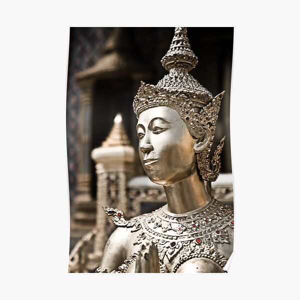 Statue of the Emerald Buddha temple  Poster
