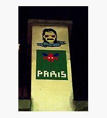 Space Invaders Paris Photographic Print
