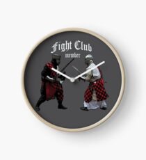 Medieval Knight Fight Club Member t-shirt Clock