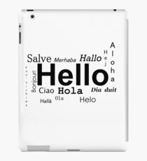 Hello in many languages  iPad Case/Skin