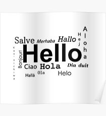 Hello in many languages  Poster