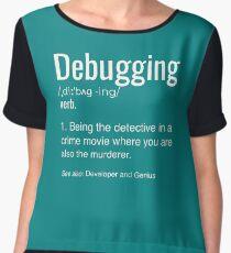 Debugging Definition T-shirt Programmers' Coding Gift Tee Women's Chiffon Top