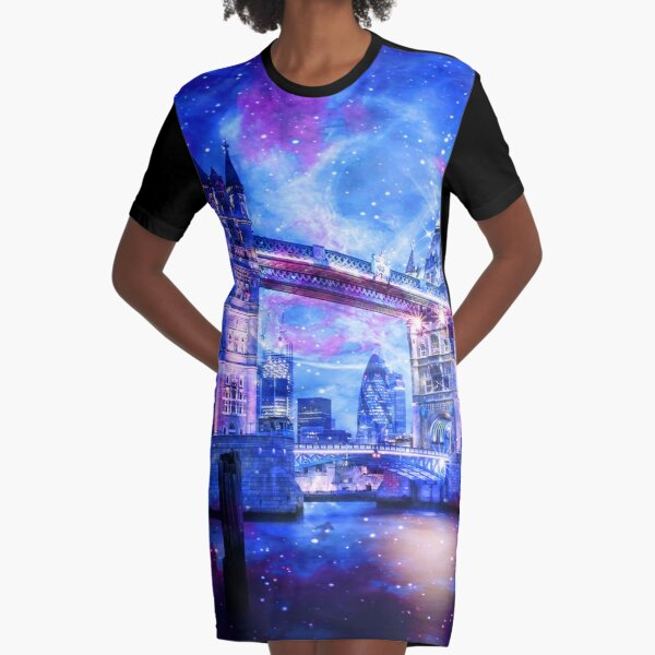 Lover's London Dreams Graphic T-Shirt Dress