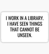 Library Horrors Sticker