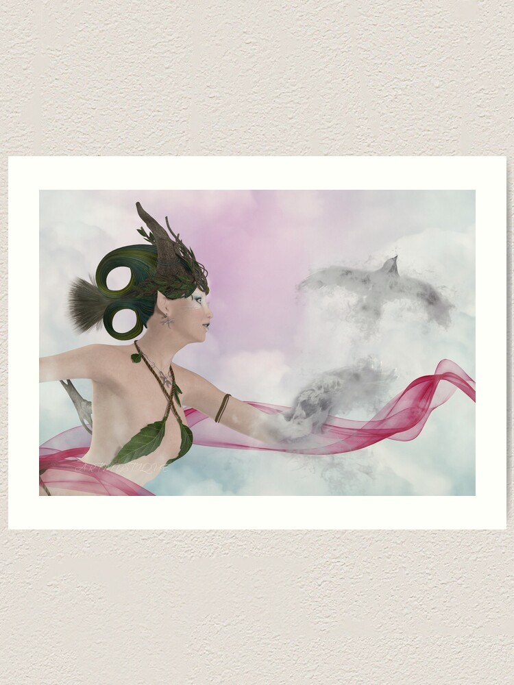 Alternate view of Fly Away With Me Art Print