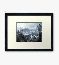 Skyrim winter Framed Print