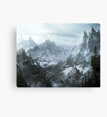 Skyrim winter Canvas Print