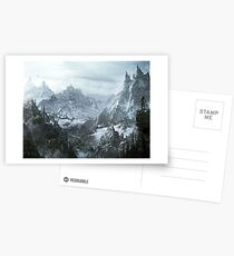 Skyrim winter Postcards