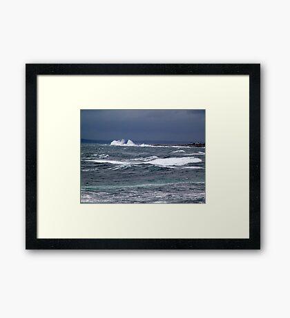 The Sea Shall Not Reach Them Framed Print