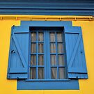 Blue on Yellow by TalBright
