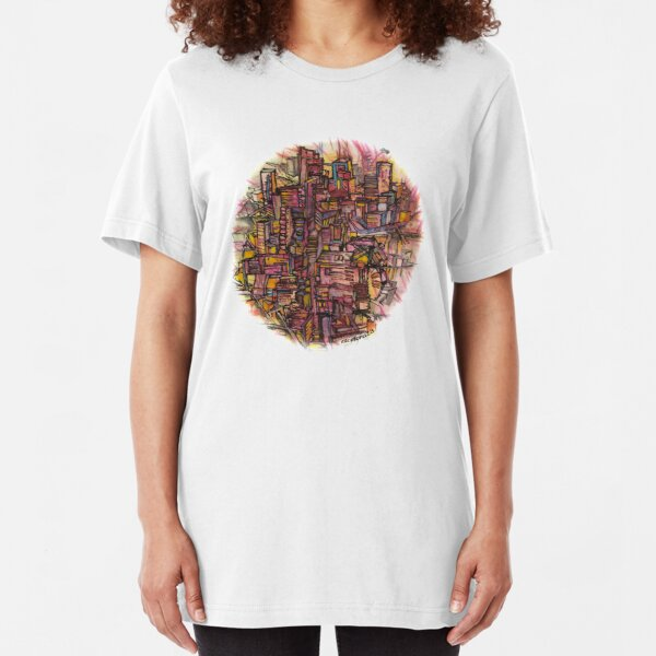 """""""DÉRIVE"""" (french) - an aimless walk through city streets Slim Fit T-Shirt"""