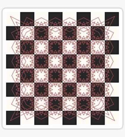 Knight's Tour Chessboard Sticker