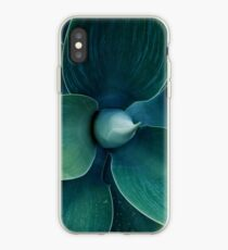 Floral green pattern iPhone Case