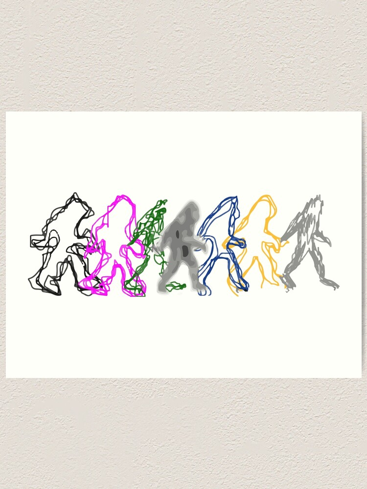 Alternate view of Interdimensional Bigfoot Art Print