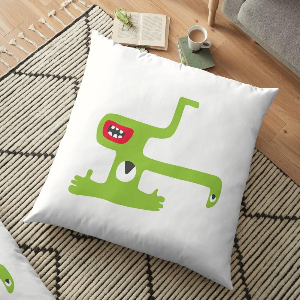 Green Monster Floor Pillow