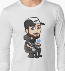 Mass Effect - Jeff Joker Moreau Normandy Pilot with EDI Chibi Sticker T-Shirt