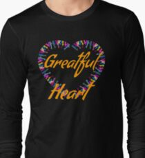 Greatful heart-hands beautiful print  Long Sleeve T-Shirt