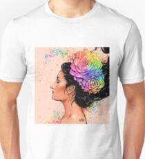 Self Portrait ( Rose Gold Succulent ) T-Shirt