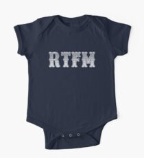 RTFM - Read The Fine Manual White Western Style Design One Piece - Short Sleeve