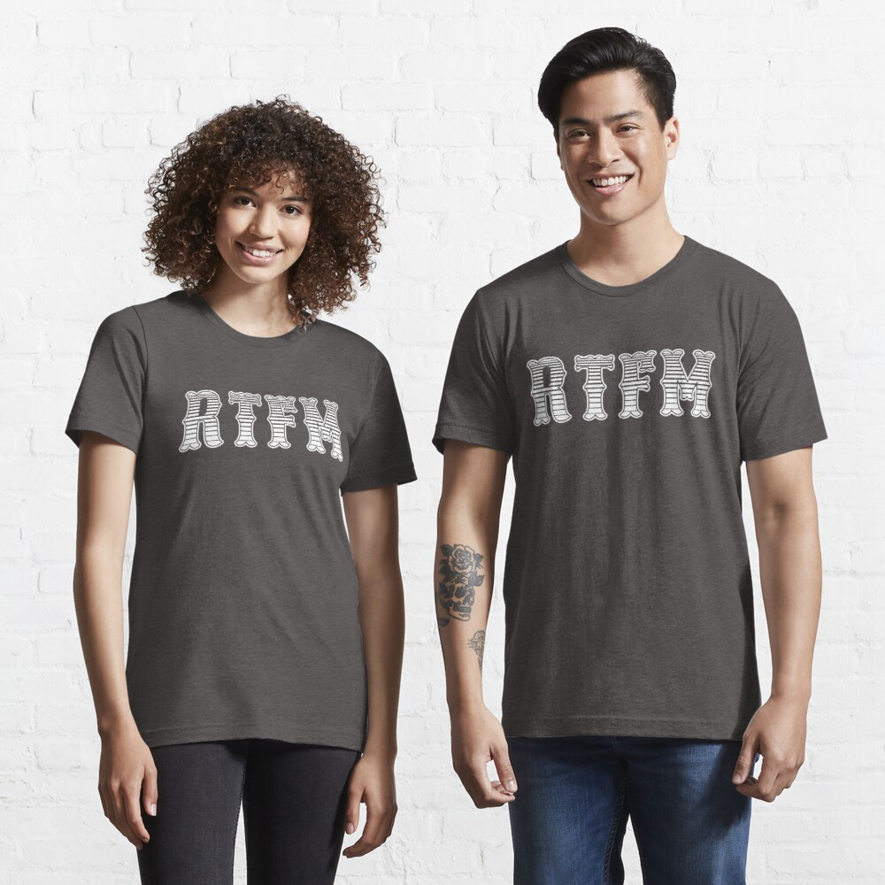 RTFM - Read The Fine Manual White Western Style Design Essential T-Shirt
