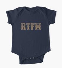 RTFM - Read The Fine Manual Brown Western Style Design One Piece - Short Sleeve