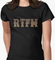 RTFM - Read The Fine Manual Brown Western Style Design T-Shirt