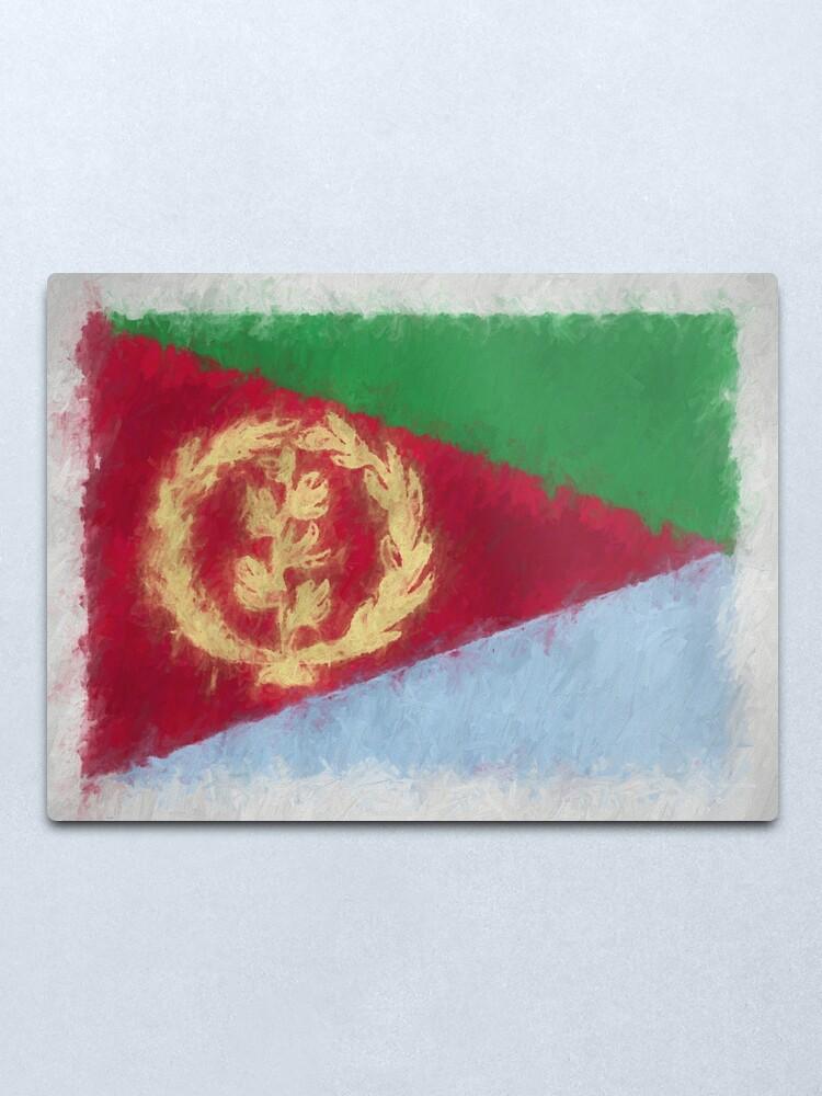 Alternate view of Eritrea Flag Reworked No. 66, Series 4 Metal Print