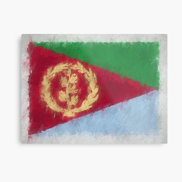 Eritrea Flag Reworked No. 66, Series 4 Metal Print