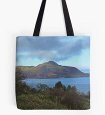Holy Isle view Tote Bag