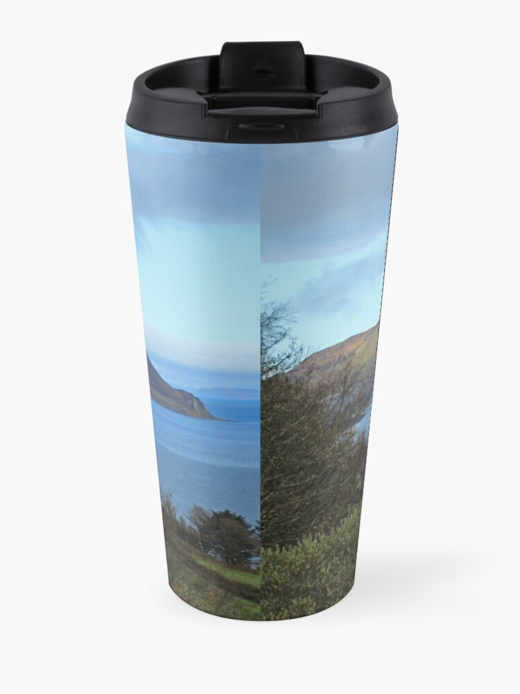 Alternate view of Holy Isle view Travel Mug
