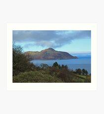 Holy Isle view Art Print