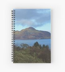 Holy Isle view Spiral Notebook