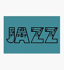 Jazz In Notes Photographic Print