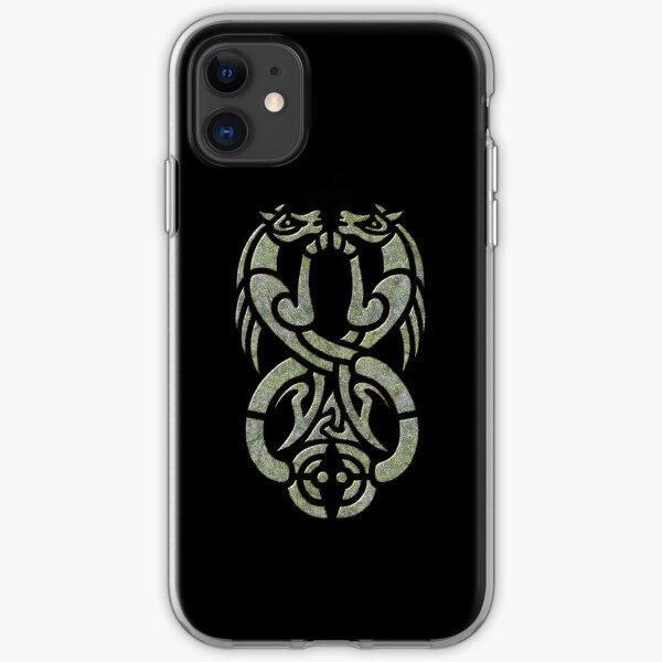 Celtic Water Kelpie-Green Version iPhone Soft Case