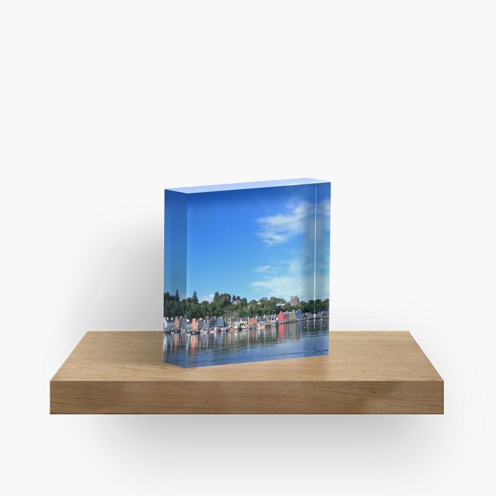 Blue Sky in Balamory Acrylic Block
