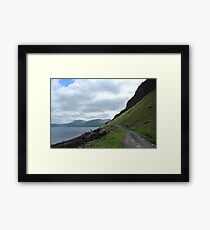 Island road Framed Print