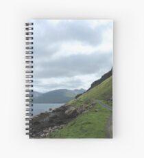 Island road Spiral Notebook