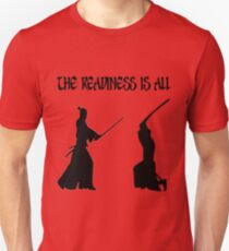 Buy Swords The Readiness Is All Samurai Shakespeare Online Unisex T-Shirt