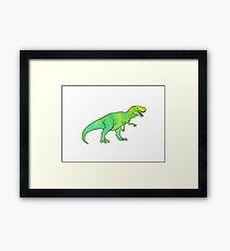 T-Rex Water Color  Framed Print