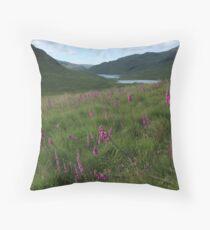 Field of foxgloves II Throw Pillow