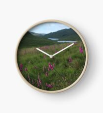 Field of foxgloves II Clock