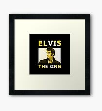 Elvis The King Framed Print