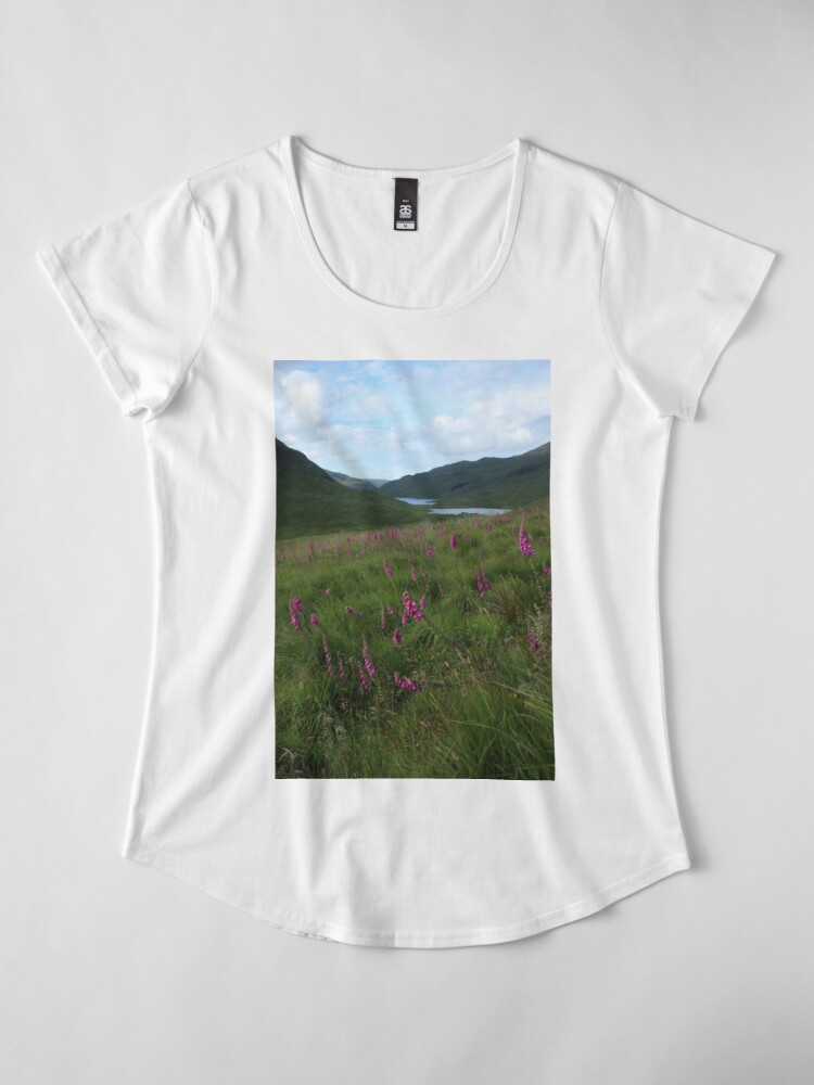 Alternate view of Field of foxgloves II Premium Scoop T-Shirt