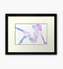Sexy silhouette lady Framed Print