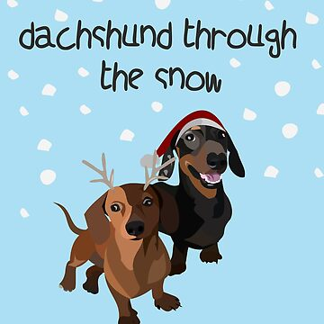christmas dogs, dachshund by gumidomino