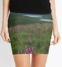 Field of foxgloves I Mini Skirt