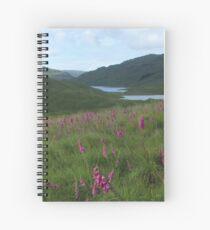 Field of foxgloves I Spiral Notebook