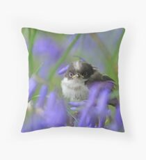 Bird in the blue Throw Pillow